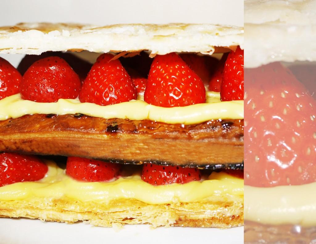 Millefeuille aux fraises et sa crème pâtissière au chocolat blanc dans Desserts fraises-milleufeuille-1024x790